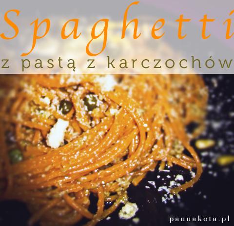 makaron z pastą z karczochów, pannakota.pl