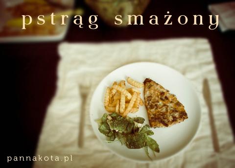 filet z pstrąga smażony na patelni, pannakota.pl