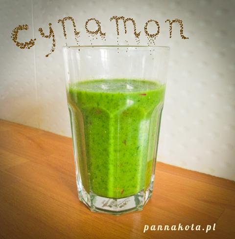 green-smoothie-cynamonowy, pannakota.pl
