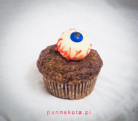 muffinki-halloween-oko, pannakota.pl