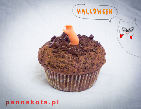 muffinki-halloween-rączka, pannakota.pl