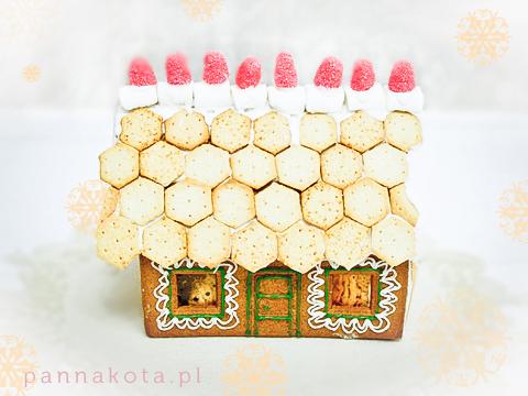 domek z piernika ciasteczkowe dachówki, pannakota.pl