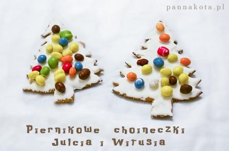 piernikowe choineczki Julcia i Witusia, pannakota.pl