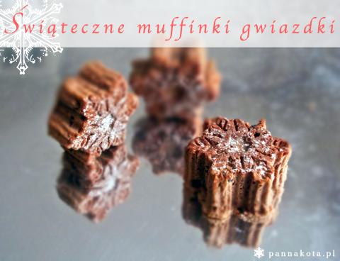 świąteczne muffinki gwiazdki - jogurtowo piernikowe z bakaliami, pannakota.pl