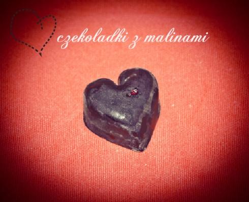 czekoladki z malinami, pannakota.pl