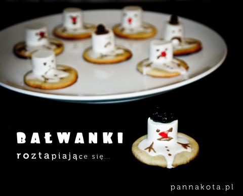 ciasteczka bałwanki roztapiające się, pannakota.pl